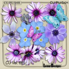 CU Vol 665 Flowers by Lemur Designs