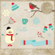 Hello Winter Layered Vector Templates by Josy
