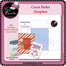 Cocoa Packet Printable Craft TEMPLATE by Boop Printable Designs