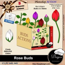 Rose Buds ACTION by Boop Designs