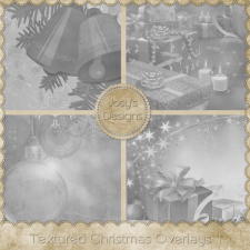 Textured Christmas Overlays 1 by Josy