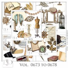 Vol. 0673 to 0678 Vintage Mix by D's Design