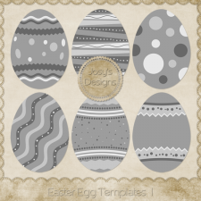 Easter Egg Layered Templates 1 by Josy