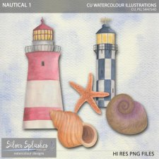 EXCLUSIVE Nautical 1 Watercolour by Silver Splashes