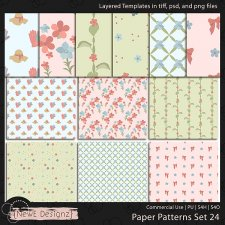 EXCLUSIVE Layered Paper Patterns Templates Set 24 by NewE Designz