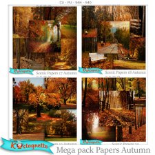 Mega Pack Autumn papers by Kastagnette