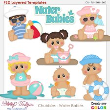 Chubbies Water Babies Layered Element Templates