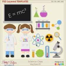 Science Class Layered Vector Templates