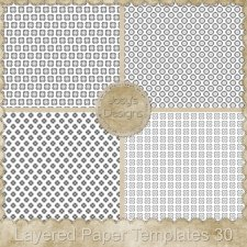 Layered Paper Templates 30 by Josy