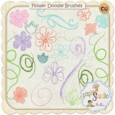 Flower Doodle Brushes EXCLUSIVE by PapierStudio Silke