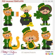 Lil Pat's Leprechauns Layered Element Templates