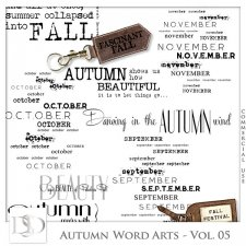 Autumn Word Arts Vol 05 by D's Design