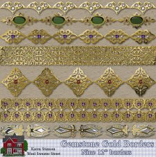 Gold & Gemstone Borders by Karen Stimson