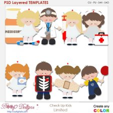 Doctor Check Up Kids Layered Element Templates
