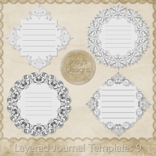 Layered Journal Templates 9 by Josy