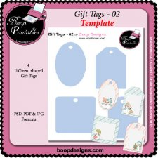 Gift Tags 02 TEMPLATE by Boop Printable Designs