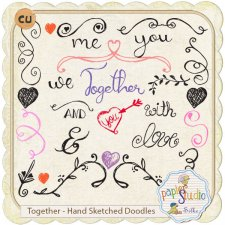 Together - Hand Sketched Doodles with Tutorial by PapierStudio Silke