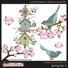 EXCLUSIVE Layered Spring Templates Set 2 by NewE Designz