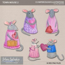 EXCLUSIVE Town Mouse 2 Watercolour by Silver Splashes