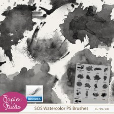 SOS Watercolor PS Brushes by PapierStudio Silke