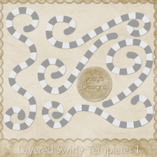 Layered Swirly Templates 1 by Josy