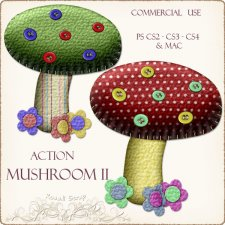 Action - Mushroon II by Rose.li