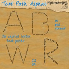 Text Path Alphas by Mandog Scraps