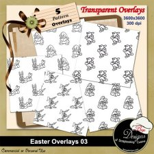 Easter Pattern Overlays 01 by Boop Designs