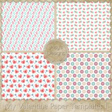 My Valentine Love Paper Templates by Josy