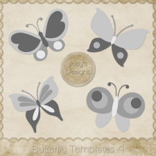 Butterfly Layered Templates 4 by Josy