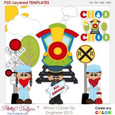When I Grow Up Engineer Layered Element Templates
