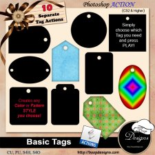 Basic Tags ACTION by Boop Designs