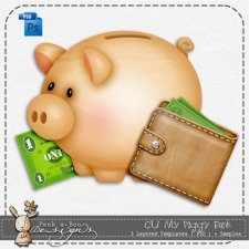 My Piggy Bank Layered Template by Peek a Boo Designs