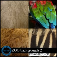Zoo Backgrounds 2 CU4CU by Happy Scrap Arts