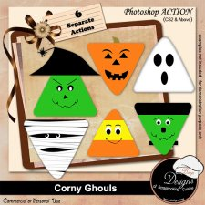 Corny Ghouls ACTION by Boop Designs