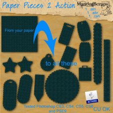 Paper Pieces 2 Action by Mandog Scraps