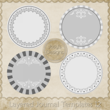 Layered Journal Templates 12 by Josy