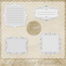 Layered Journal Templates 5 by Josy