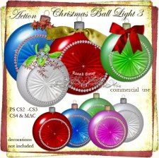 Action - Christmas Ball Light III by Rose.li