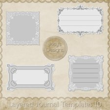 Layered Journal Templates 10 by Josy