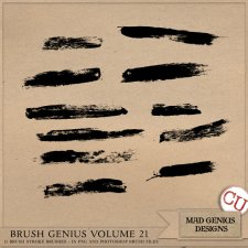 Brush Genius Volume Twenty-one by Mad Genius Designs