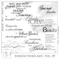 Everyday Word Arts Vol 09 by D's Design