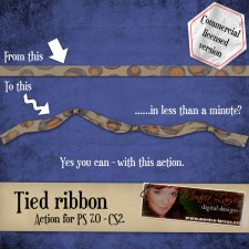 Tied Ribbon Action by Monica Larsen