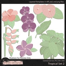 EXCLUSIVE Layered Tropical Templates Set 2 by NewE Designz