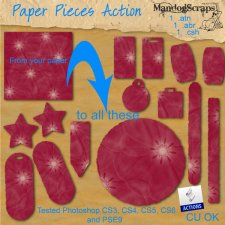 Paper Pieces Action by Mandog Scraps