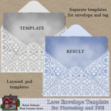 Lace Envelope Template by Karen Stimson