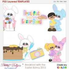 Breakfast With the Easter Bunny Layered Element Templates