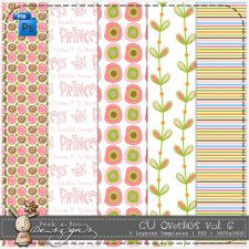 Princess Overlay Pattern Paper Template 06 by Peek a Boo Designs