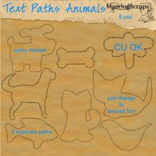 Text Path Animals by Mandog Scraps