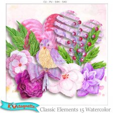 Classic Elements 15 Watercolor by Kastagnette
